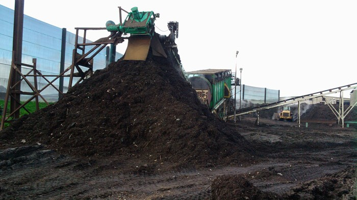 What a composting operation! Machines